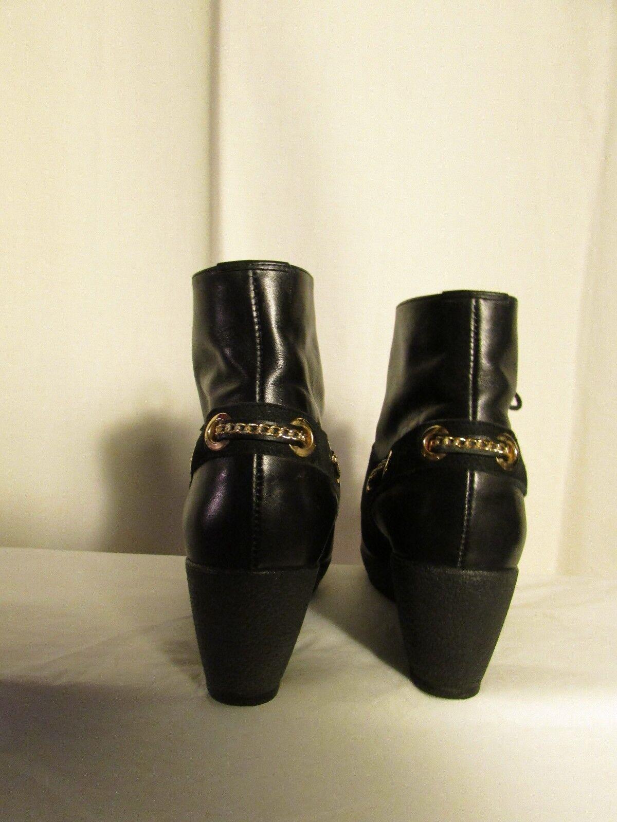 Bottines compensées MALOLES  cuir noir et daim noir cuir pointure 37 d079e2