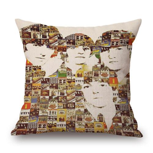 Throw Pillow Case Cushion Cover Beatles Cotton Linen Sofa Home Car Decor  01