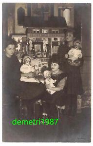 Photo-Ak-Fille-Avec-Poupees-Maison-Jouet-A-1910-Pirna-A3950