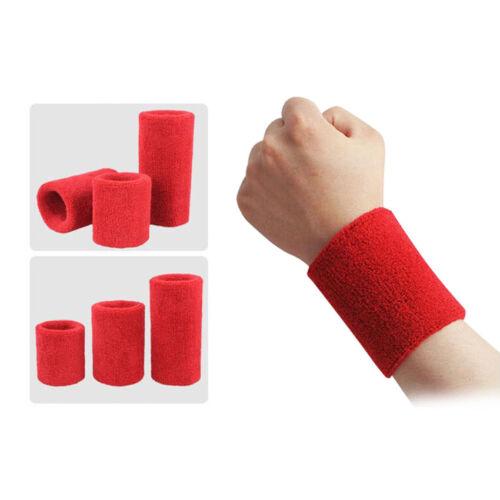New Sports Basketball Unisex Cotton Sweat Band Sweatband Wristband Wrist Band