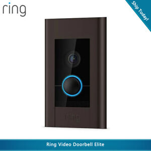 Ring Video Doorbell Elite 1080p HD Video, Live View, Night Vision Two-Way Audio