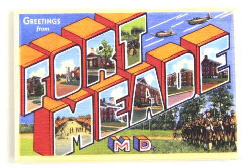 Details about  /Greetings from Fort Meade Maryland FRIDGE MAGNET travel souvenir