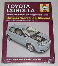 Reparaturanleitung Toyota Corolla Typ E120, Baujahre 2002 - 2007