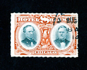US-Stamps-Year-1837-Sherman-Hotel-Chicago-Illinois-Stamp