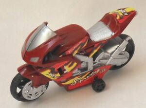 Motorrad-Bike-mit-Rueckzug-Rot-ca-10-cm-Sport-GSX-R-Racing-motorcycle