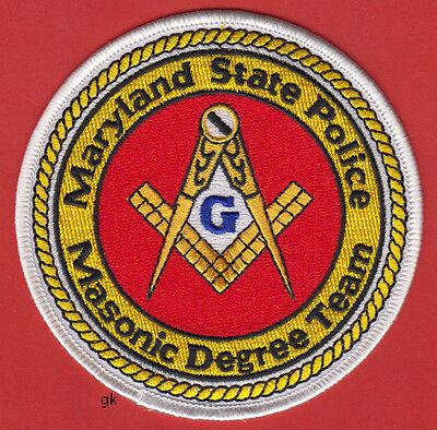 MARYLAND MASON MASONIC DEGREE TEAM POLICE SHOULDER PATCH