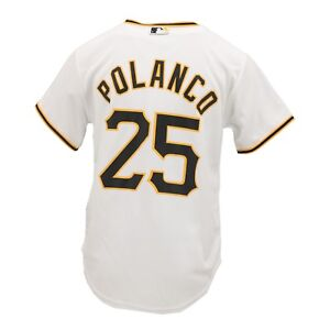 promo code be220 3adef Details about Pittsburgh Pirates MLB Majestic Cool Base Youth Size Gregory  Polanco Jersey New