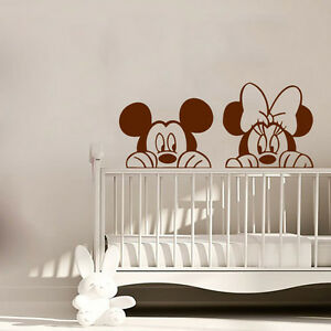 Image Is Loading Minnie Mouse Wall Decal Mickey Mouse Vinyl Sticker