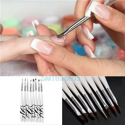 8pcs DIY Nail Art Design Acrylic Drawing Painting Dotting UV Gel Pen Brushes Set