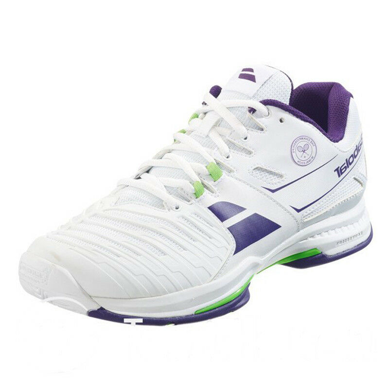 Babolat SFX 2 All Court Wimbledon uomo Tennis Shoes White Violet Green NEW Scarpe classiche da uomo