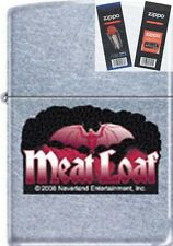Zippo 207 meat loaf bat wings music Lighter with *FLINT & WICK GIFT SET*