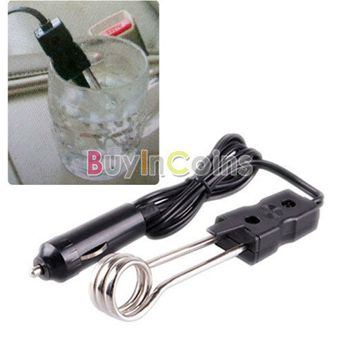 12V Car Immersion Heater Tea Coffee Water Auto Electric Heater High Quality
