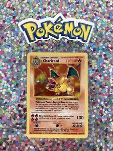 Shadowless-Classic-1st-Gen-Charizard-Holo-Base-Set-Card-4-102-Pokemon-1999