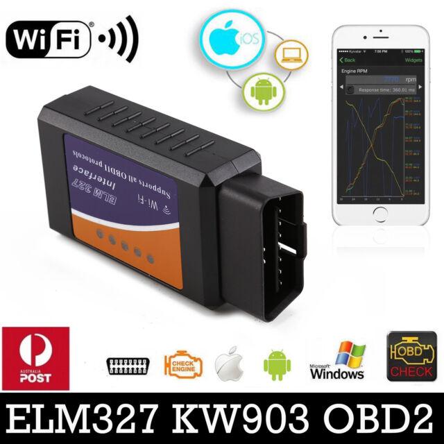 ELM327 OBDII OBD2 WiFi Car Engine Diagnostic Code Reader Scan iPhone Android OZ