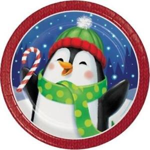 Christmas Paper Plates.Details About Winter Fun 7 Inch Paper Plates 8 Pack Winter Christmas Party Decoration