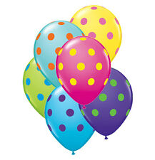 "10pc - 11"" Qualatex Big Polka Dot Colorful Latex Balloon Party Decoration Circus"