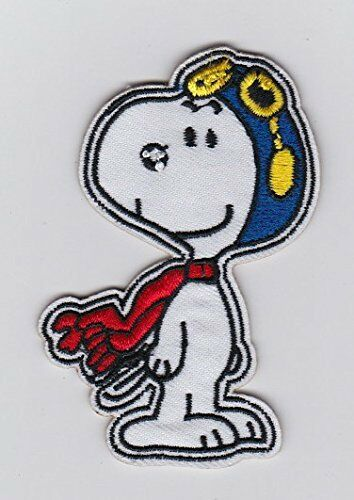 Snoopy pilot Embroidered Iron On Sew On Patch
