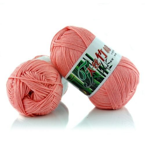 New 100/% Bamboo Cotton Warm Soft Natural Knitting Crochet Knitwear Wool Yarn X05