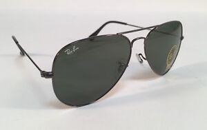 a179fa6f41 Image is loading New-RAY-BAN-Sunglasses-3025-W0879-Aviator-Gunmetal-