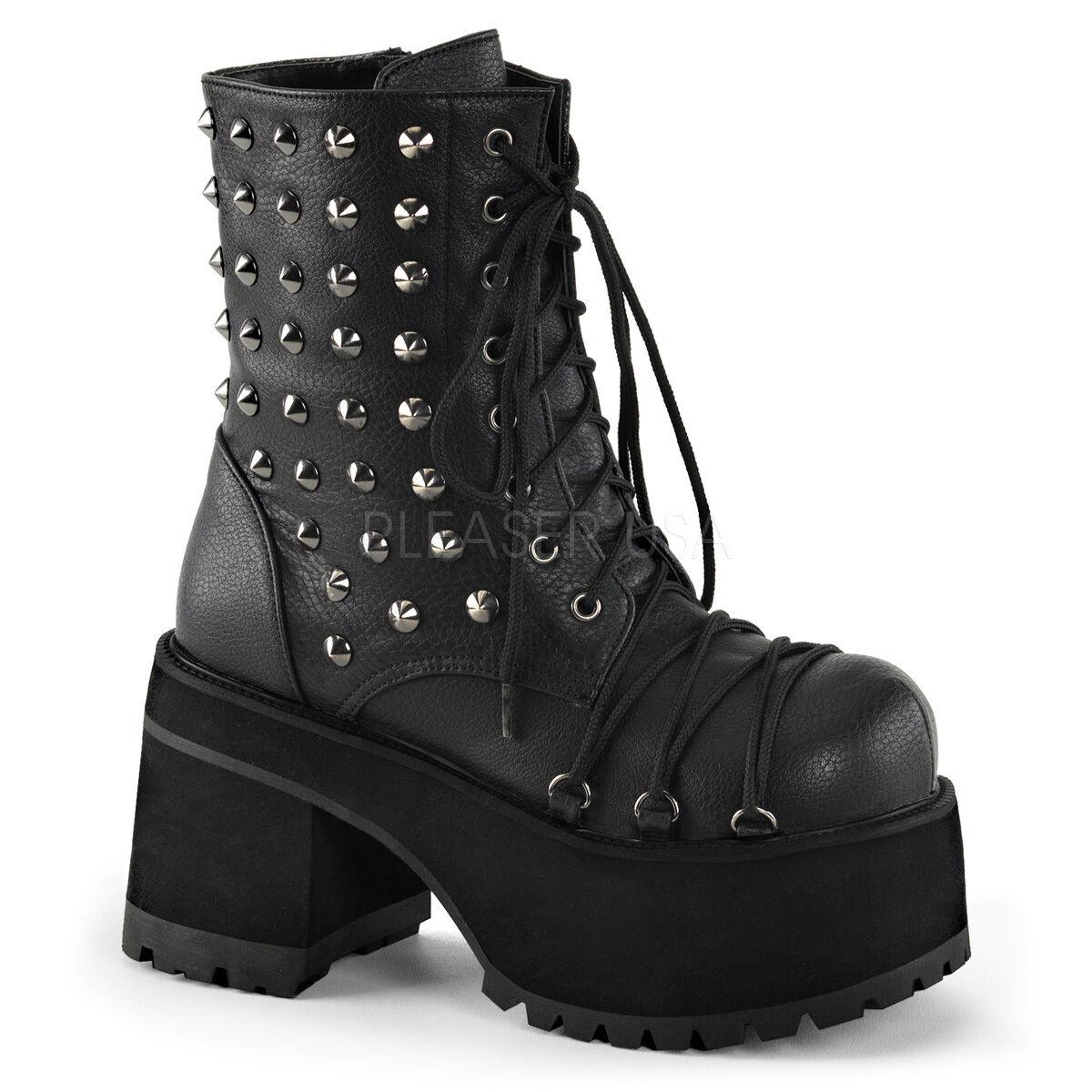 Demonia ran208 bpu Para Mujer Plataforma Spike Stud lazada Goth Botines Zapatos