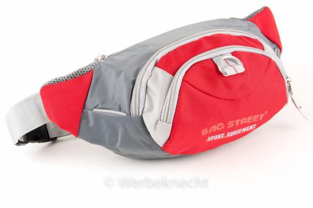 Bauchtasche Hüfttasche Gürteltasche Bag Tasche Angeln Jogging rot / grau NEU XXL