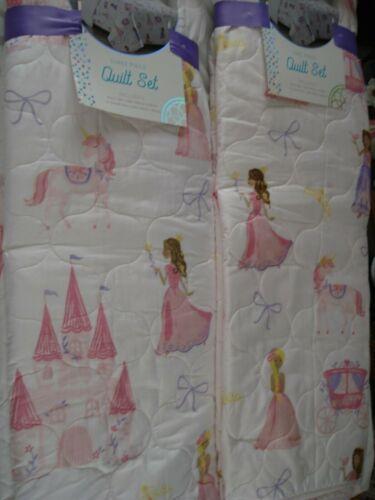Little Dreamers Quilt Set  FULL or TWIN Princess Unicorns Castle Carriage Crown