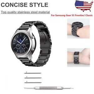 Stainless-Steel-Bracelet-Strap-Samsung-Gear-S3-Frontier-S3-Classic-Watch-Band