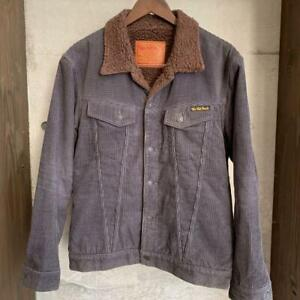THE FLAT HEAD Corduroy Boa Jacket Corduroy coverall canel Size:40 Excellent-