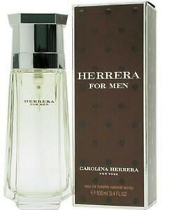 HERRERA for Men Carolina Herrera Cologne EDT 3.4 oz 3.3 New in Box