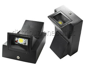 Applique led parete doppia emissione watt esterno luce calda