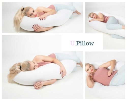 Extra Fill Giant U Pillow Pregnancy Maternity Nursing Back 12//9ft Cover option