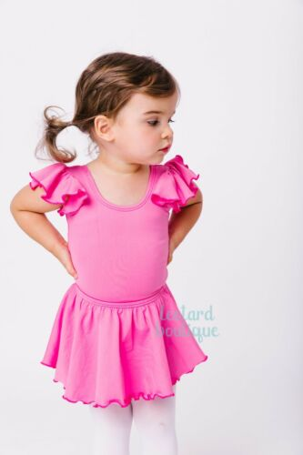 The Leotard Boutique Ruffle Sleeve Leotard for Infants Toddlers and Girls