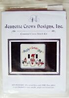 Jeanette Crews Designs: snow Family Switch Plate Cover Cross Stitch Kit -new