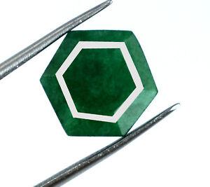 Colombian Green Emerald 100% Natural Gemstone 5-7 Ct Hexagon Cut AGI Certified