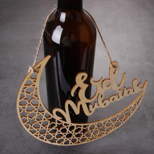 le bois de décoration eid mubarak ramadan décoration découpés au laser en bois