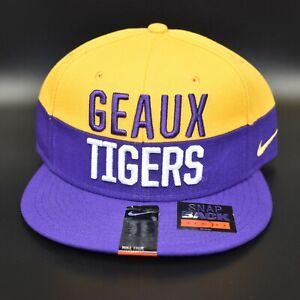 LSU Tigers Geaux Tigers Nike NCAA Men's Adjustable Snapback Cap Hat - NWT