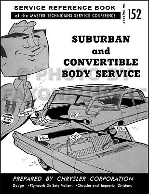 1960 Chrysler Convertible Top Service Manual Imperial New Yorker 300F Adjustment