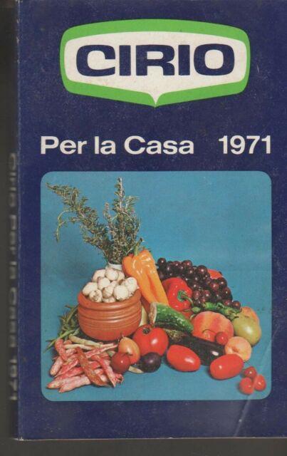 Ricettario di cucina.CIRIO,AGENDA ANNUALE 1971 CON RICETTE GIORNALIERE-
