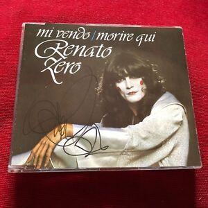 Renato-ZERO-gt-MI-VENDO-MORIRE-QUI-personally-signed-rare-cd-singolo-autografo