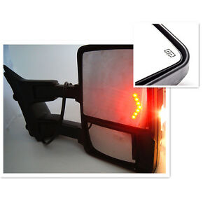 99 07 f250 f550 super duty towing mirrors power heated. Black Bedroom Furniture Sets. Home Design Ideas