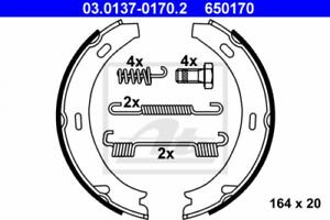 Bremsbackensatz Feststellbremse für Bremsanlage Hinterachse ATE 03.0137-0170.2
