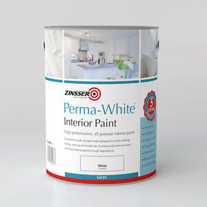 zinsser perma white interior paint matt satin semi gloss ebay