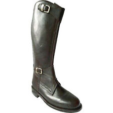 Polo Player Riding Tall Boots Mens 7 Ladies 8.5 Front Zipper Leather