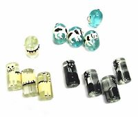 12pcs Cats & Dogs Hand Painted Glass Beads Mix Oval Tabular Beads 15 20 Mm