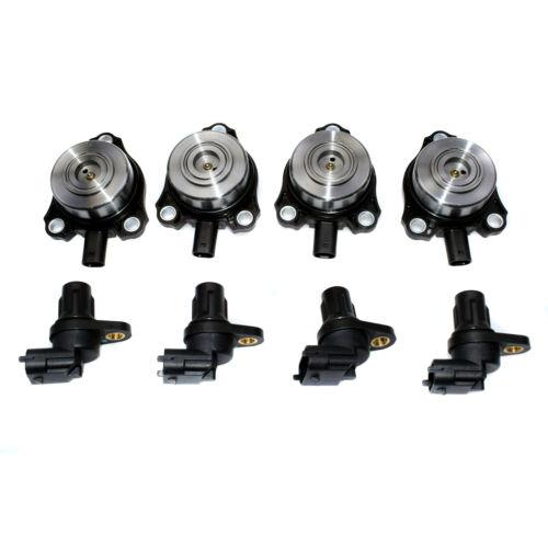 4x Camshaft Position Sensors /& 4x Adjuster Magnets For Mercedes R171 W203 W209