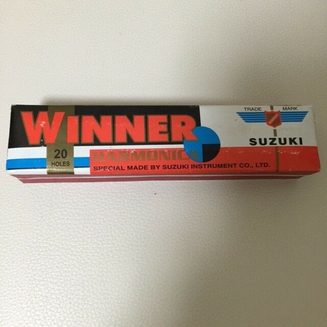 RARE  out of production Suzuki Fukuon Harmonica Winner 20holes  F/S from Japan