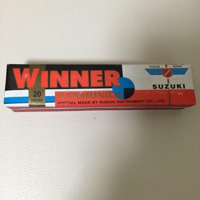 Selten Suzuki Fukuon Harmonica Winner 20Löcher F S aus Japan