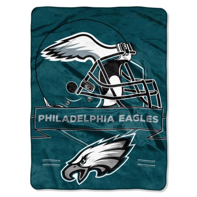 Philadelphia Eagles 60x80 Royal Raschel Throw Blanket - Prestige Design [NEW]