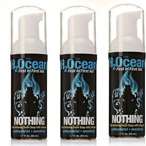 H2OCEAN-Nothing-Pain-Relief-Foam-Soap-W-Lidocaine-1-7-oz-Aftercare-Set-of-3