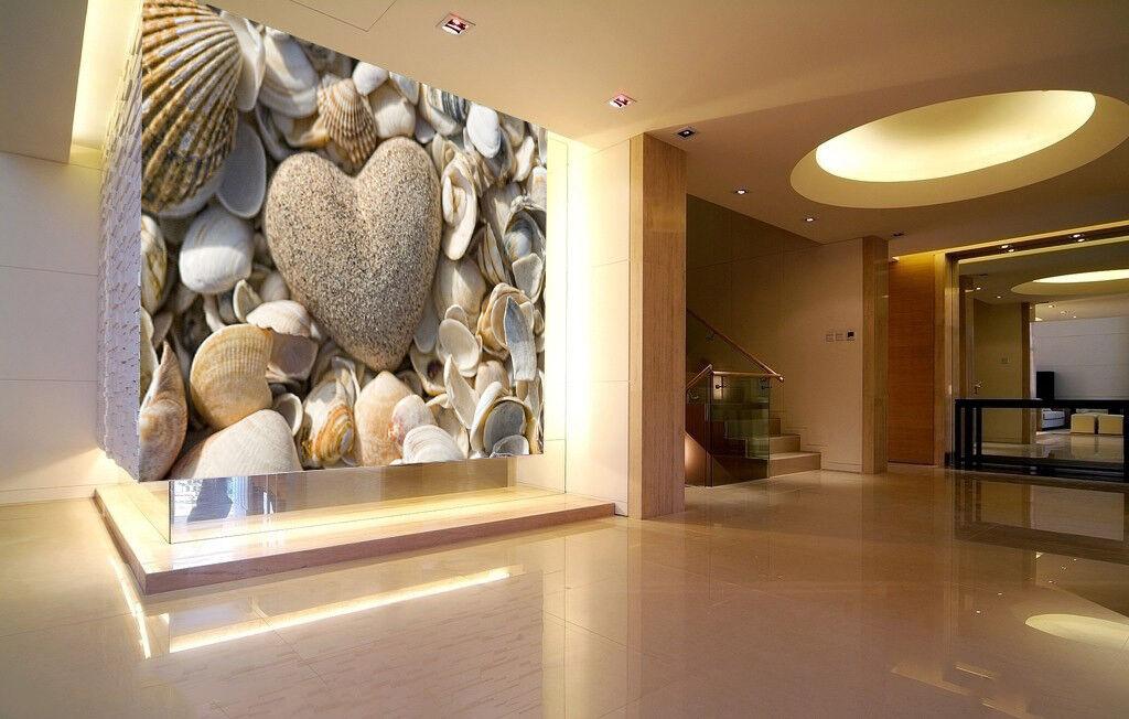 3D Steinmuschel 576 Tapete Tapeten Mauer Foto Familie Tapete Wandgemälde DE